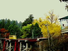 黄色のケーブルカー