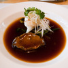 アワビと蒸魚のオイスターソース