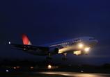 JAL A300-600R ランディング