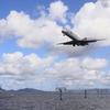 JAL MD-90 宍道湖からのアプローチ