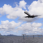 CANON Canon EOS-1D Mark IVで撮影した乗り物(JAL MD-90 宍道湖からのアプローチ)の写真(画像)