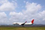 JAL B737-800 まもなく地に着く