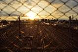 三鷹電車庫跨線橋からの景色。その1