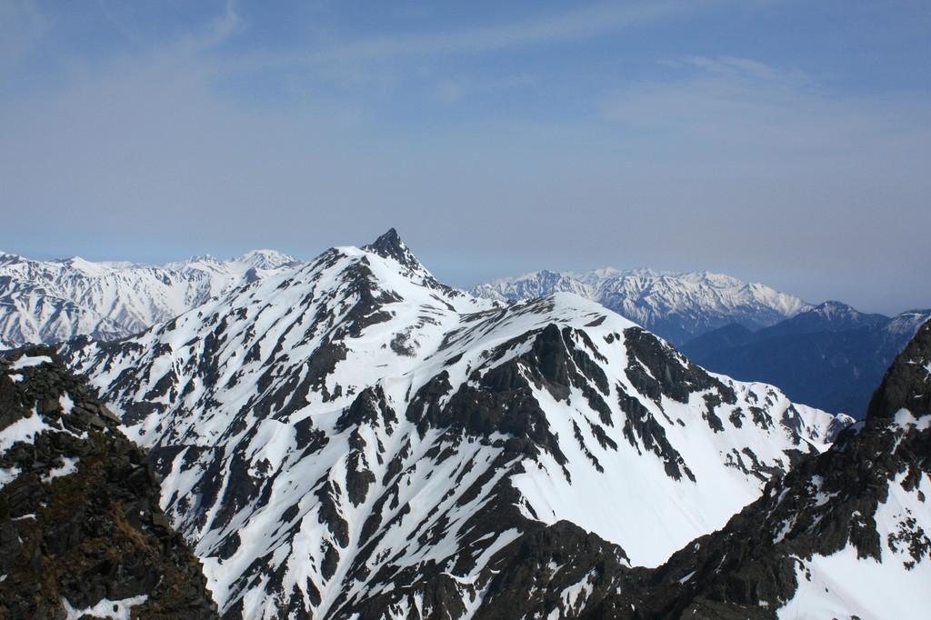 南岳から槍ヶ岳1 2009.5.3