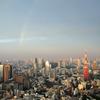 東京タワーと虹