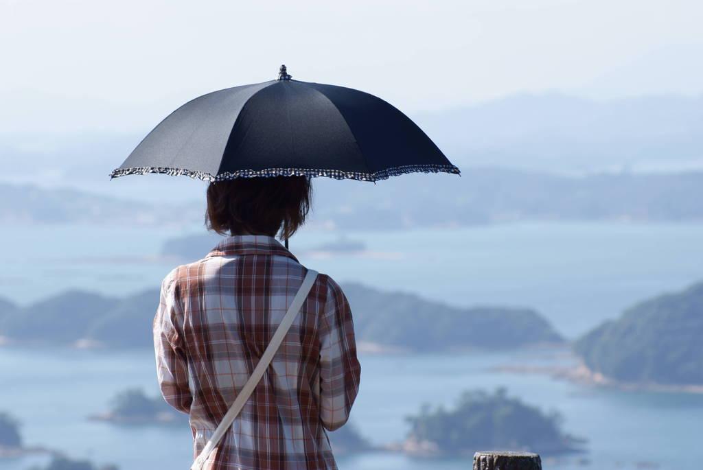 九十九島を望む