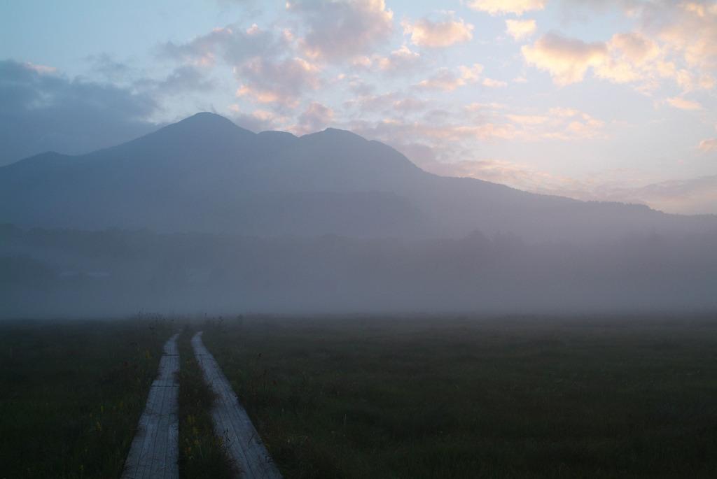 尾瀬の朝霧
