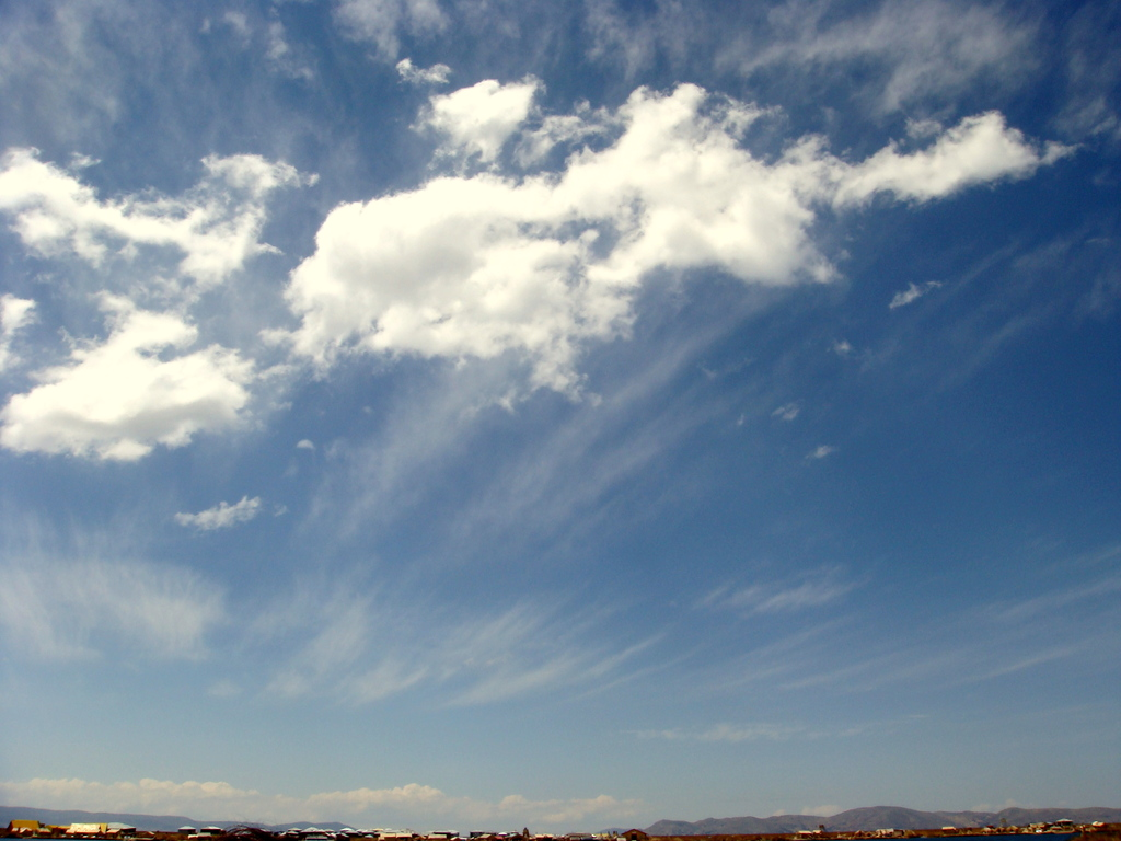 雲に手が届きそうな気がした。