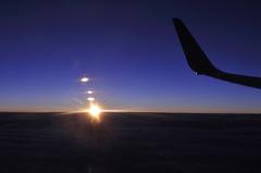雲上の日没