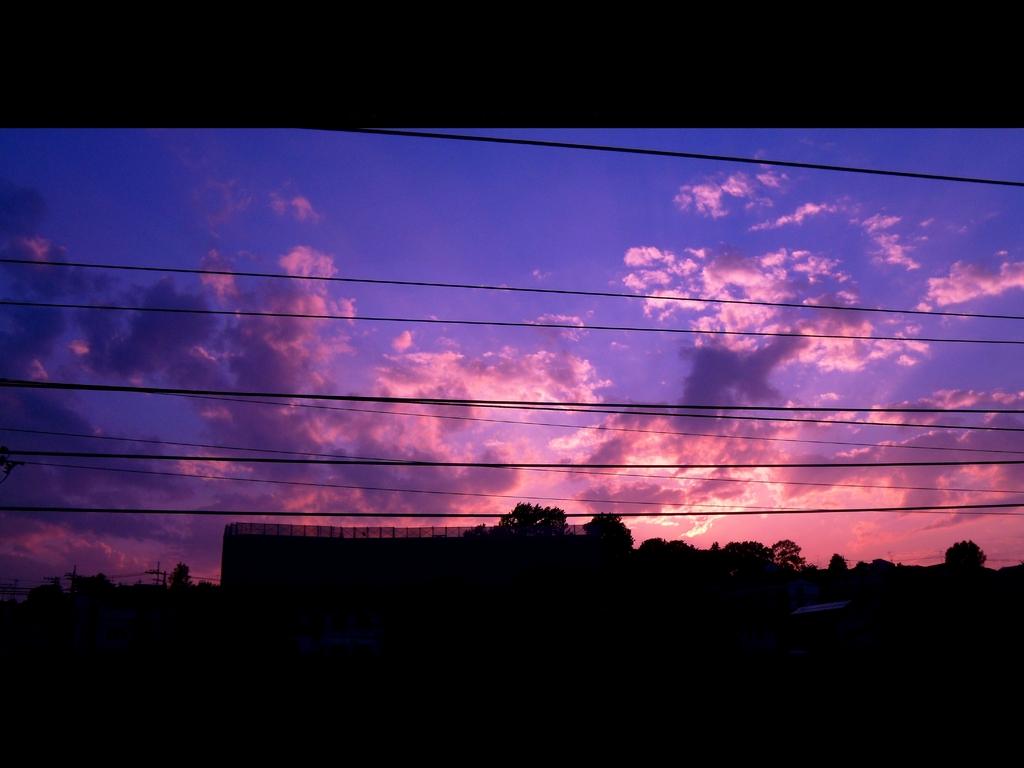 6月1日の夕日