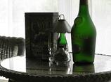 緑の洋酒瓶