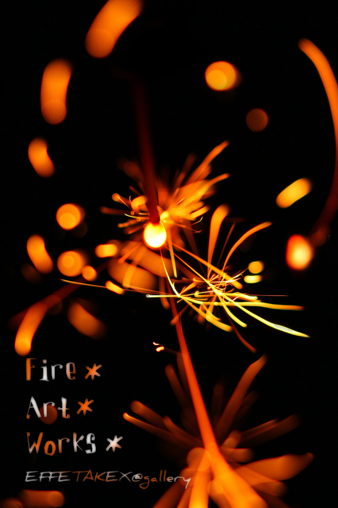 Fire art works