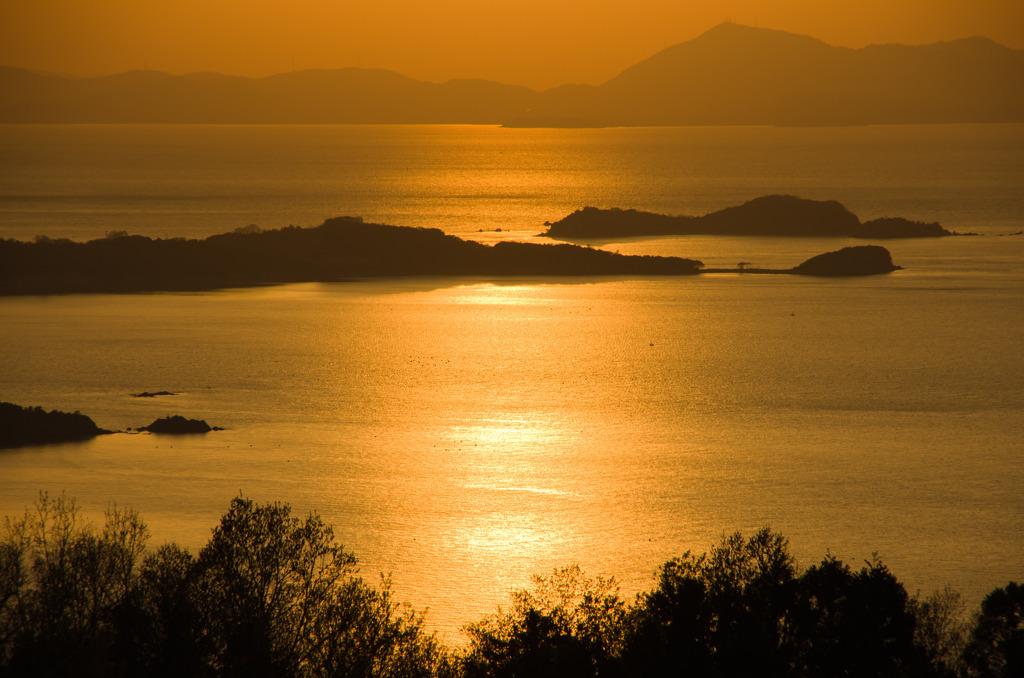 瀬戸の夕陽-1