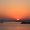 夕日と瀬戸大橋