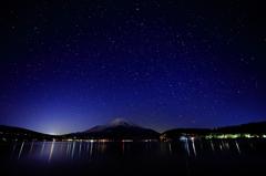 満点の富士、満天の星
