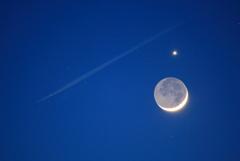 月に寄り添う金星