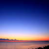 日の出前の薄明の空