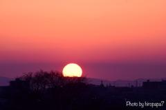 陽が沈む時!