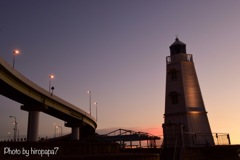 Highway and lighthouse