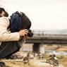 「鳥撮るカメラ女子」