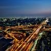 大阪夕景から夜景3