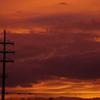 台風前の夕焼け2