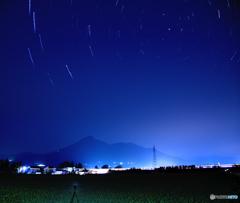 磐梯山と星空