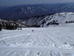 会津駒からの滑降