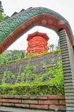 龍の背と五重塔