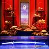 日本刀と金魚と富士と月