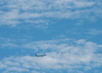 旅客機を更に上空から撮ってみた