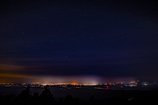那須塩原方面の夜景と星景
