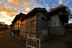 富岡製糸場の夕焼け⑬