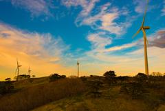 青空と夕焼けの狭間で