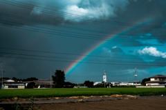 虹とお湿り