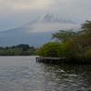 キャンプ場から見る富士山