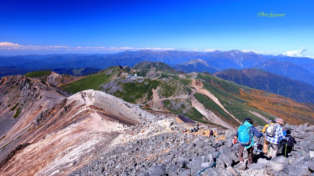 乗鞍岳からの眺望
