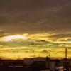 台風前…蜃気楼のような雲