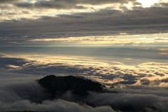 白山山頂からの雲海