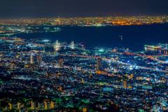 大阪湾の夜景