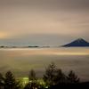 雲海の甲府盆地