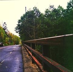 錆びた橋で・・・