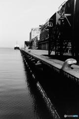 埠頭の黒・・・