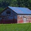 田んぼのトタン屋根