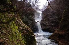 増水の滝・・・