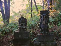 山の神社のお二人様