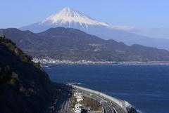 薩埵峠の富士