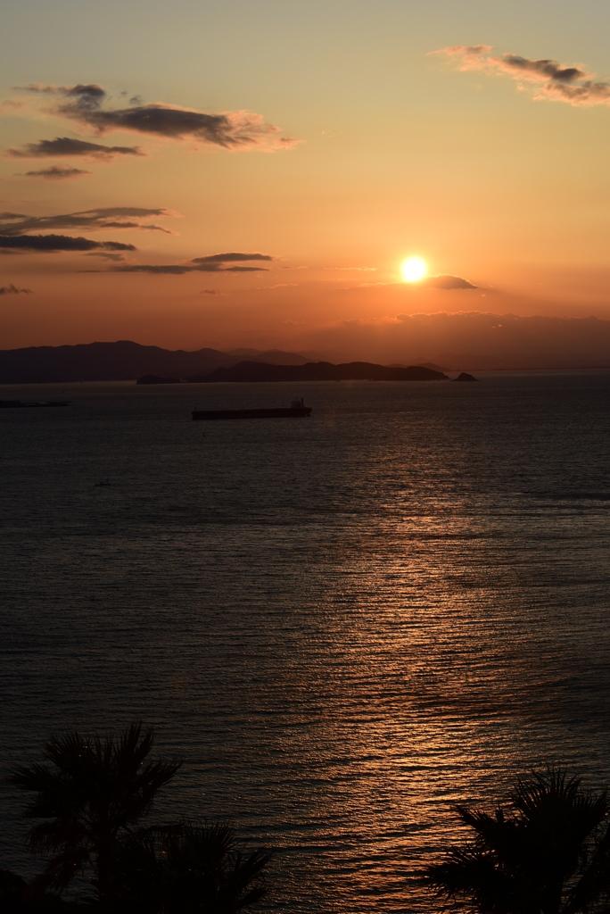伊良湖の夕陽