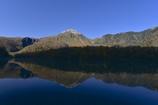 上高地の紅葉 ー 大正池と焼岳