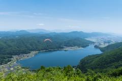 木崎湖を一望